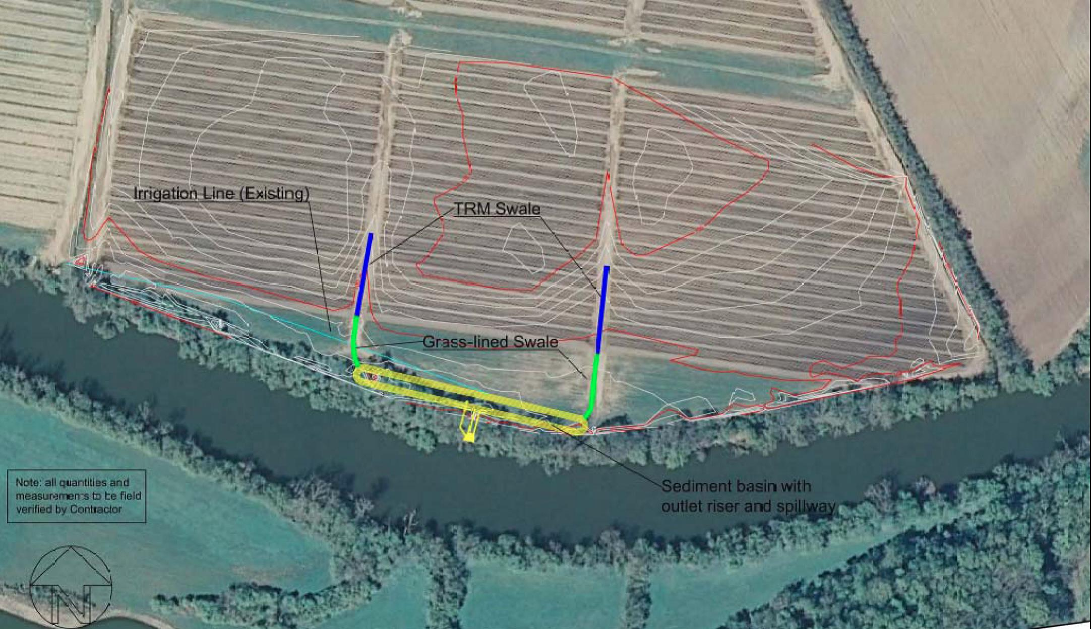 Shelton Farms Sediment Management Project Layout, Hamblen County, TN