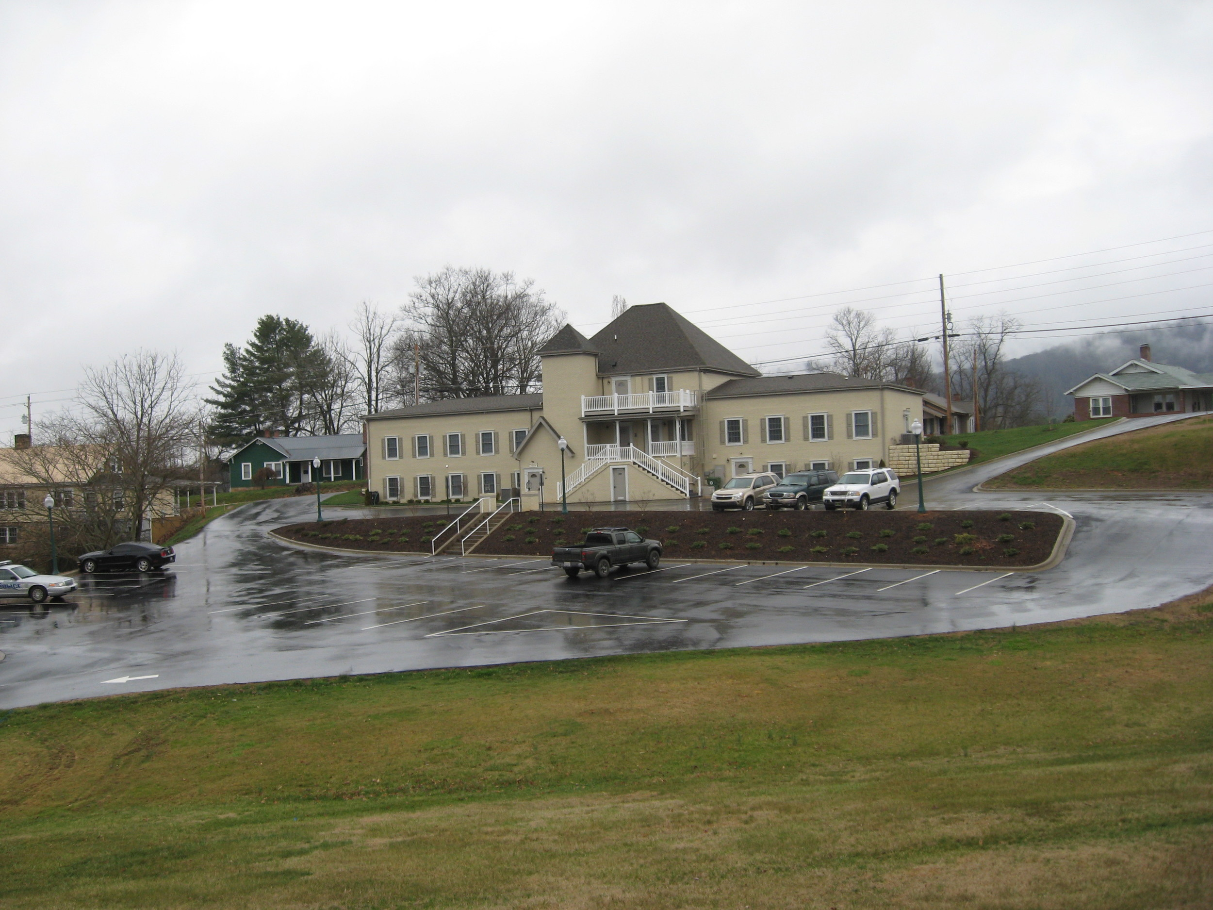 Town Hall Facility, Mars Hill, NC.  Prior to Stormwater LID Demonstration Project.