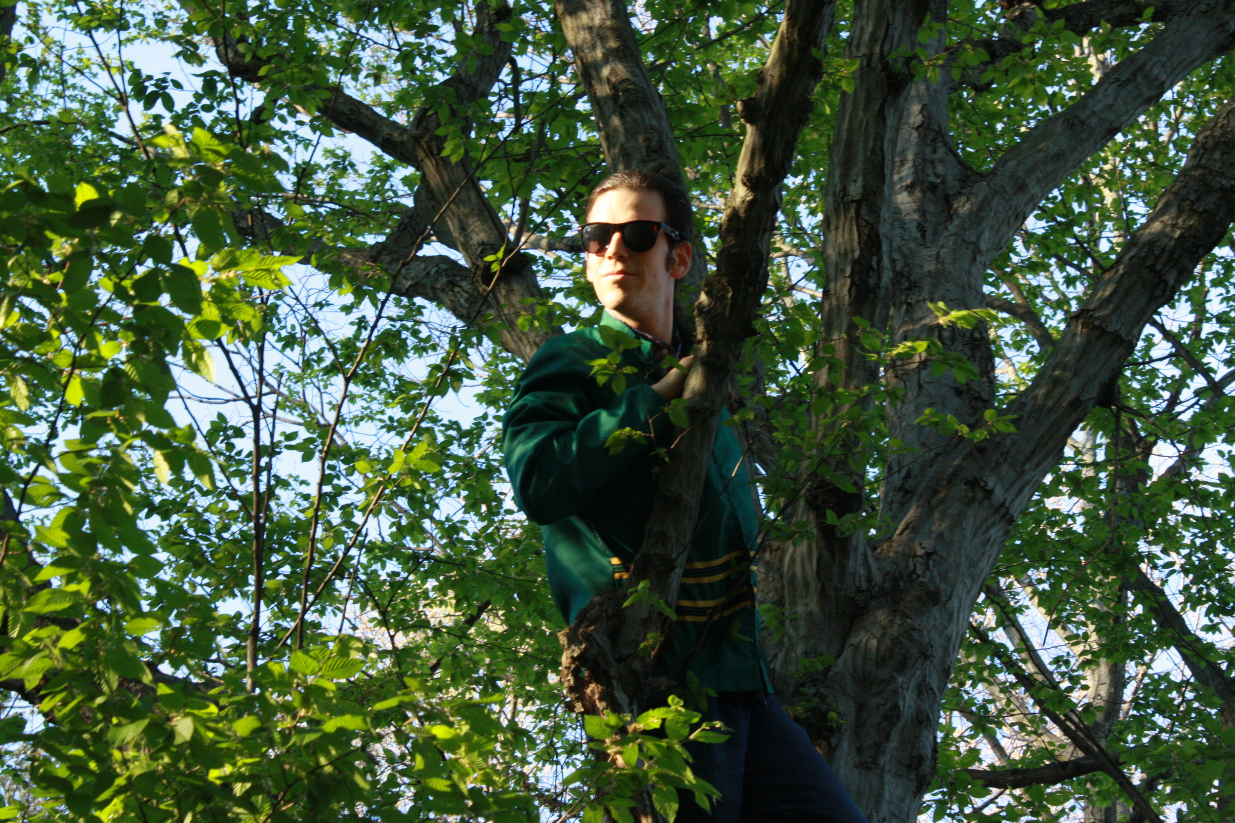 Rob in the trees.JPG