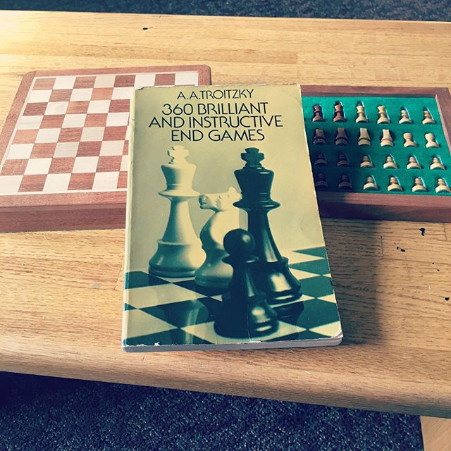 Happy International Chess Day! It's been a busy week here at the @batesdancefestival, and I'm looking forward to digging into some studying this weekend. #InternationalChessDay #Troitsky #Endgame #nerd