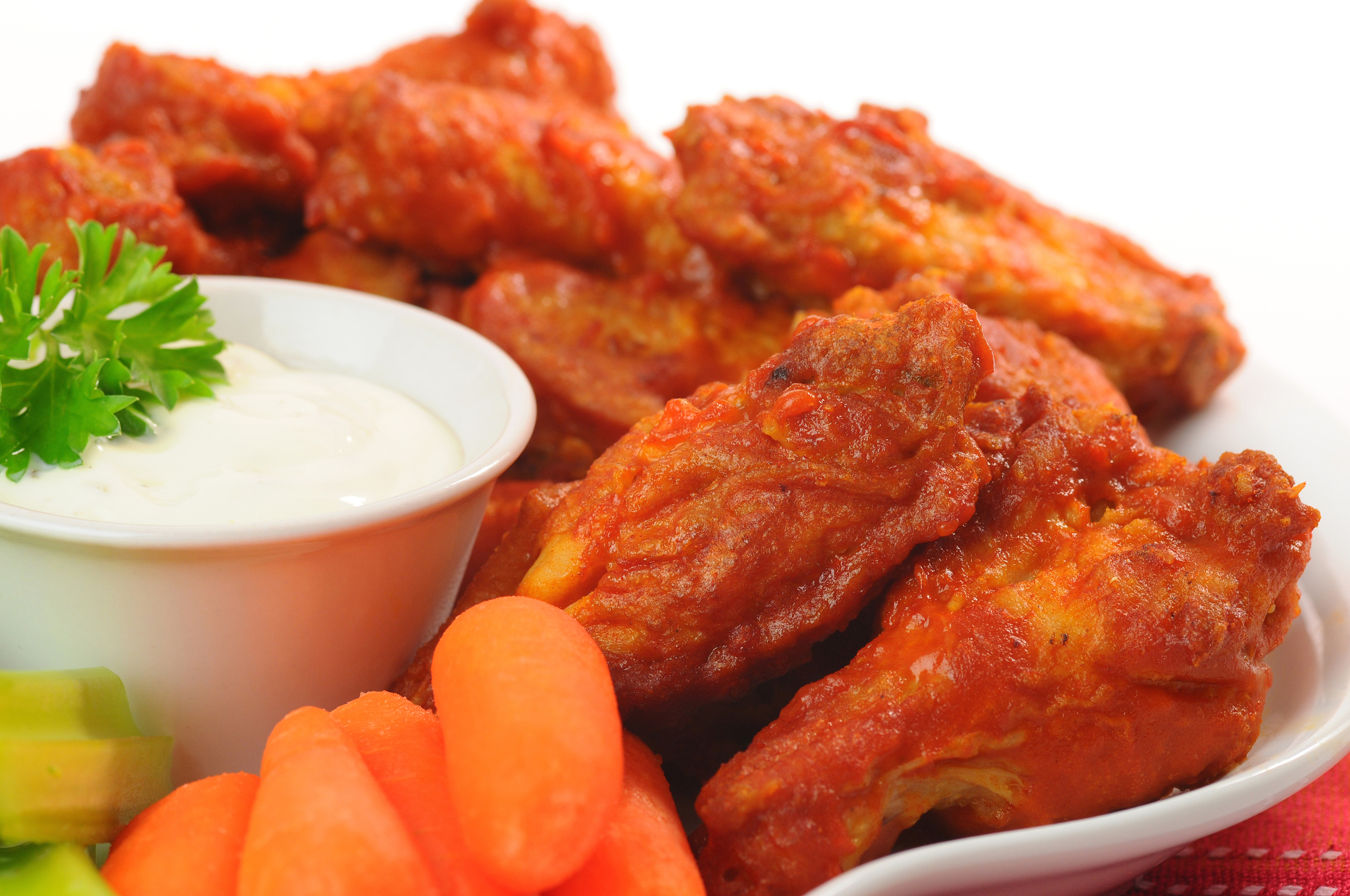 BUFFALO WINGS    Celery, Carrots and Bleu Cheese Dressing.