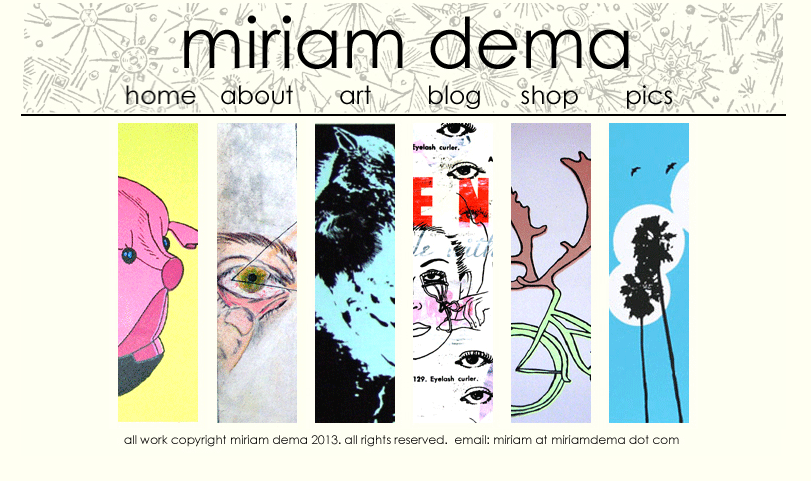 Miriam's old website and blog.