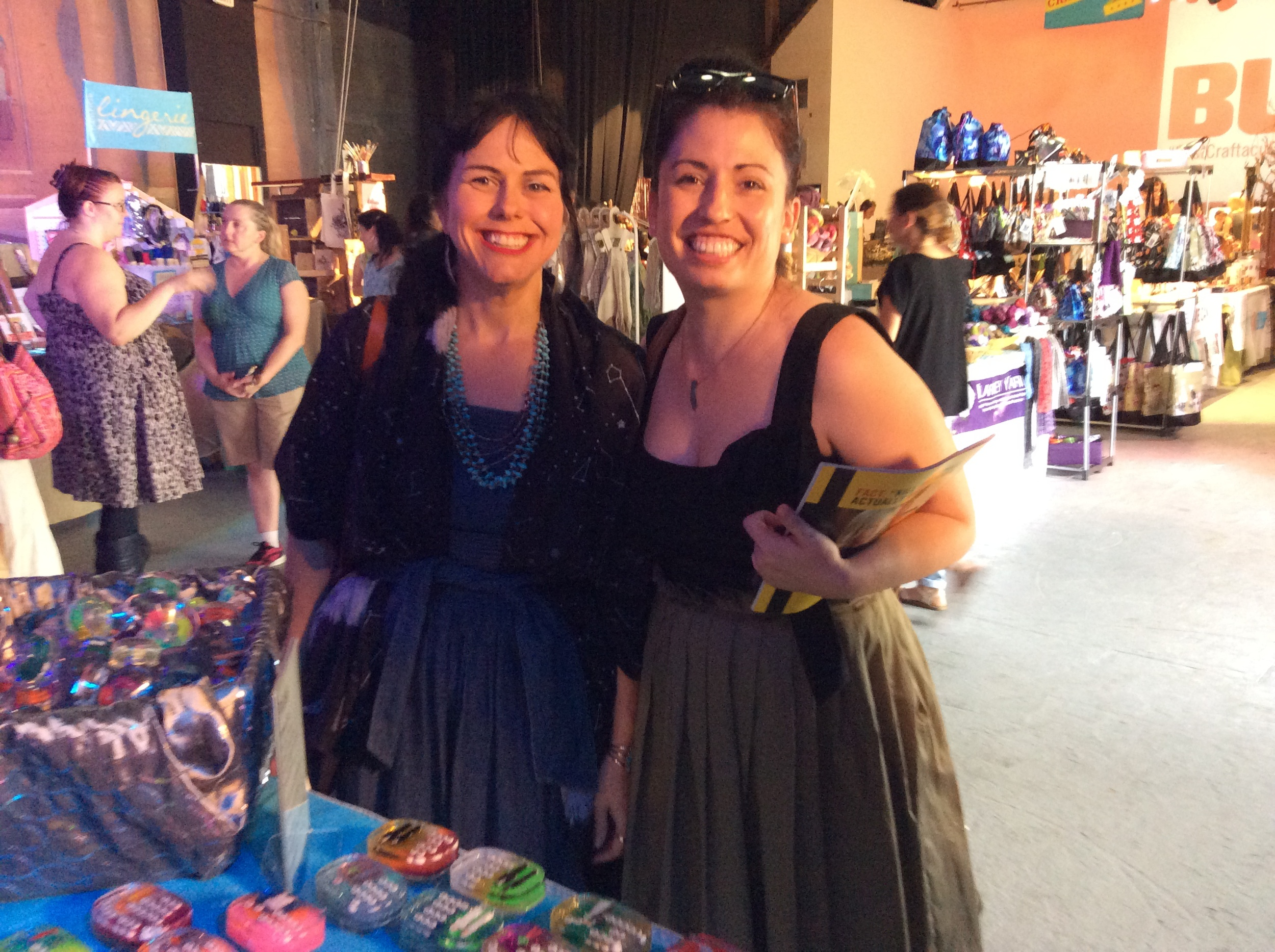 Member Miriam Dema and co-founder Sharon stopped by to say hi to Rosalie at the show.