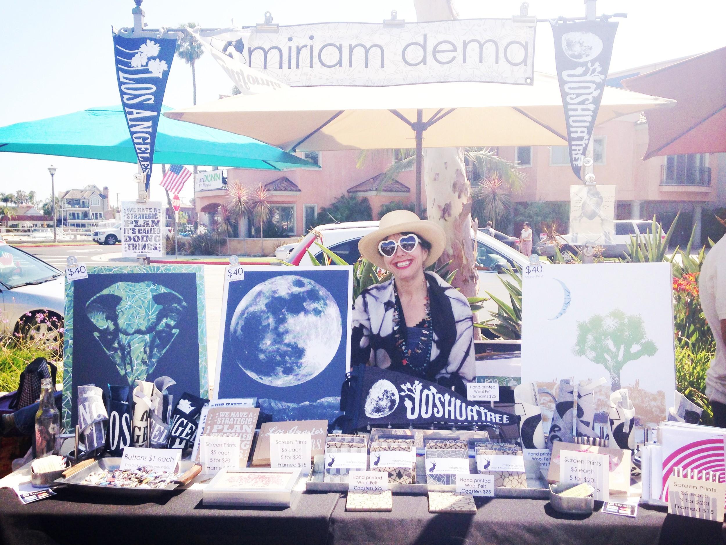 Miriam Dema's booth at Patchwork Long Beach.