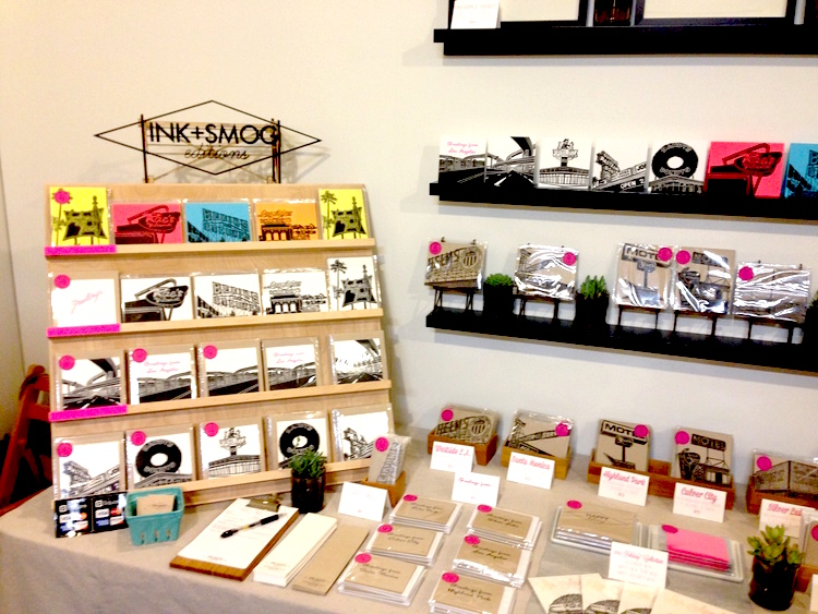 Ink & Smog (#ahasmember) use a display that complements their clean and minimalist design.
