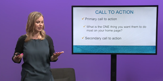 Screenshot of Andreea Ayers leading her class Optimize Your Online Store