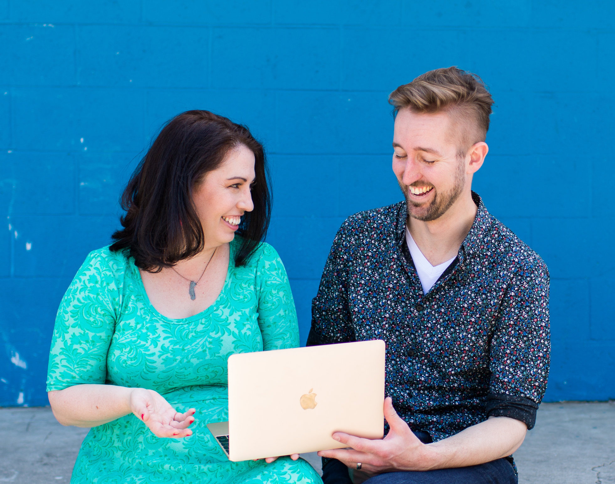 That's us just casually crafting this new program and it's totally not posed at all. ;)