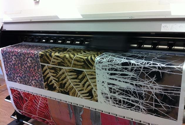 Tryck på textilmaterial, inga minimi mängder