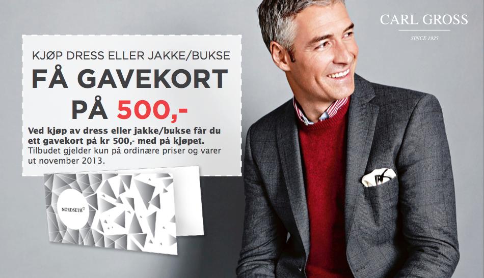 Kjøp dress eller jakke/bukse hos nordseth og få gavekort på 500,-