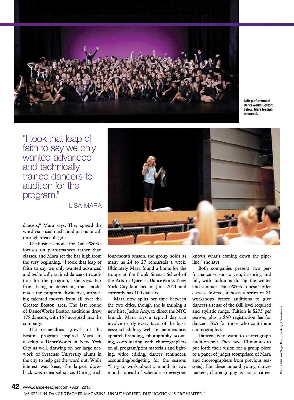 Dance Teacher Magazine Feature - Page 2.jpg