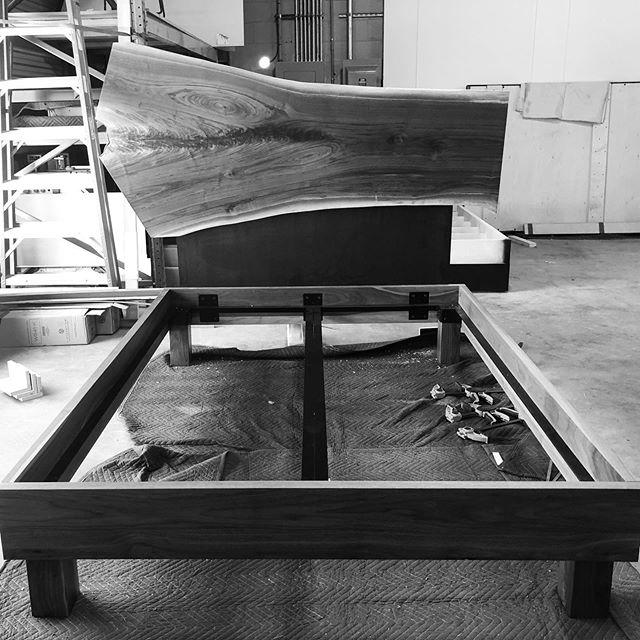 What's next? - - - - - #walnutbed #credenza #midcenturyfurniture #furnituredesigner #woodworking #solidwood #customfurniture #customtable #custombed #hardwood #interiors #miamifurniture #miamimakers #miamidesign #highpointmarket #highpoint #milanfurniturefair #furnituremaker #boutique #boutiquefurniture #handmadefurniture #finewoodworking #woodworker #walnutwood #interiordesign