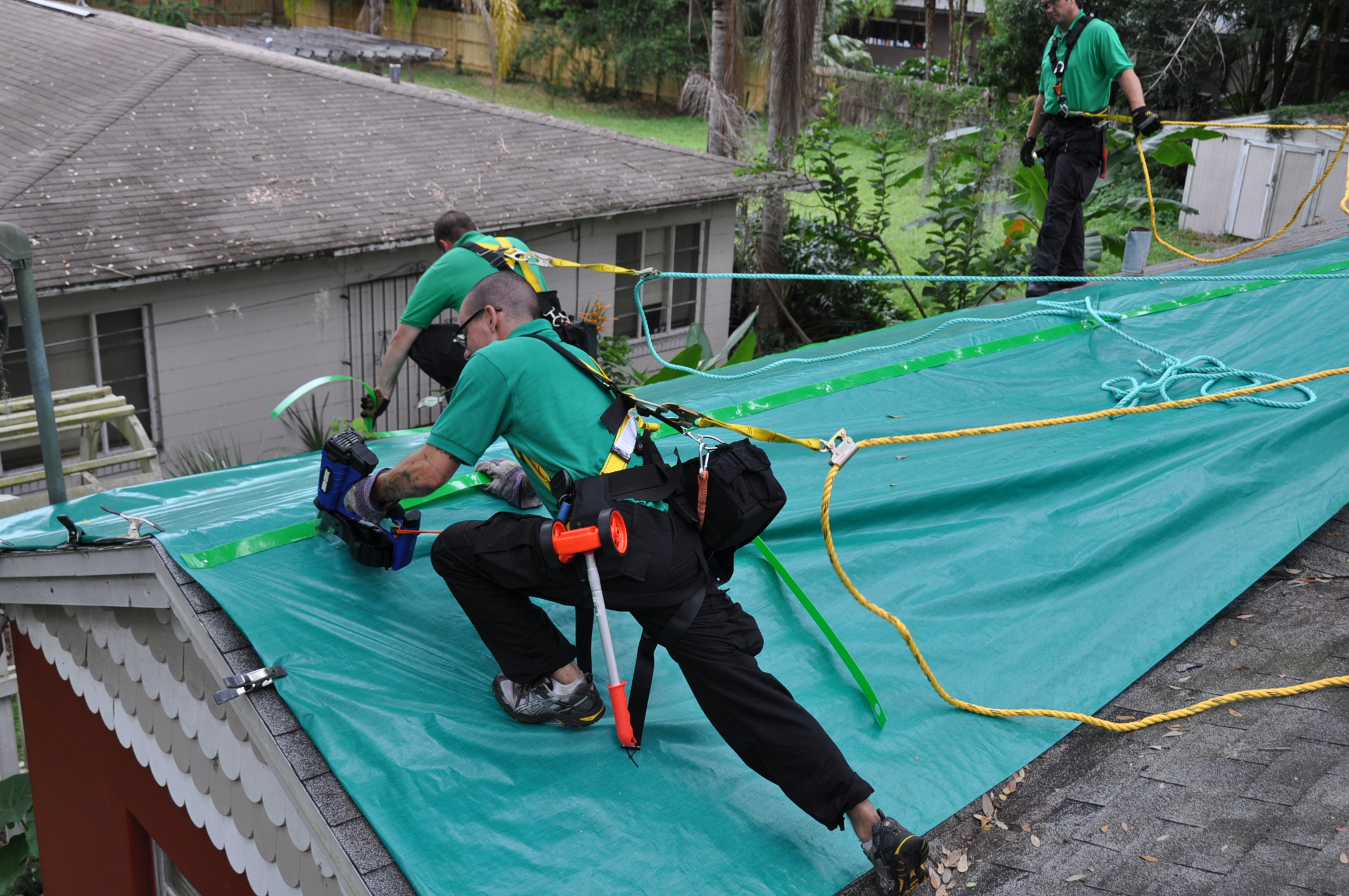 Emergency Service Tarp Solutions For A Roof Repair Orlando Roof Tarping Roof Repair Orlando Temporary Repair