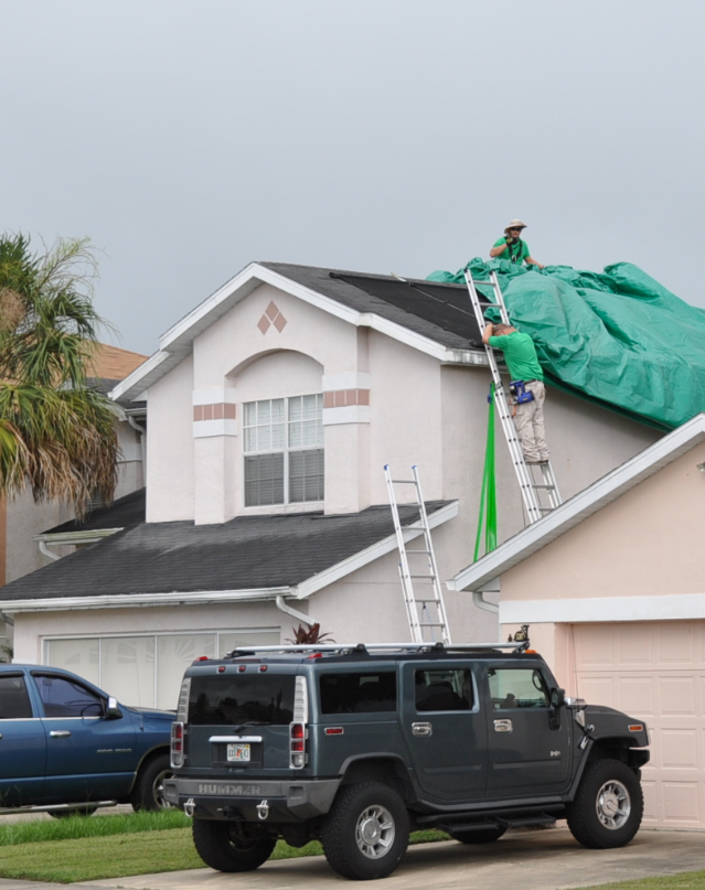 "Insurance General Contractors   - ""Tarping roofs at a disaster near you."""
