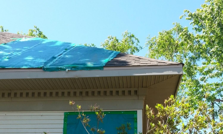 Non destructive nailing of tarp