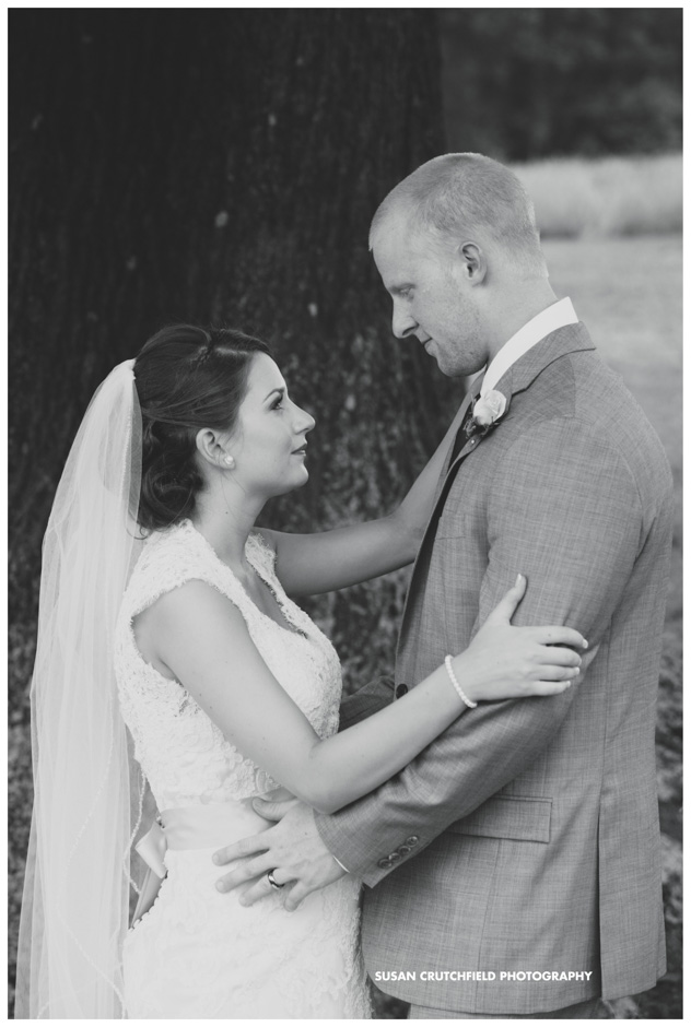 Carrollton Wedding Photography Bride and Groom Portraits Black and White