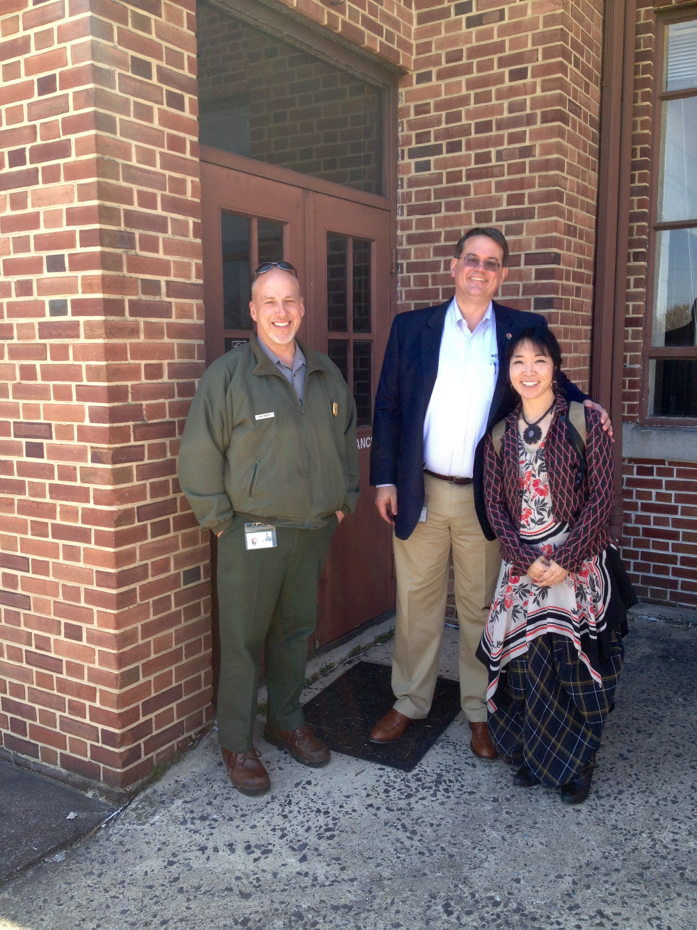 Tom Forsythe (deputy Superintendent)and Ed Clark (Superintendent) at the Armory