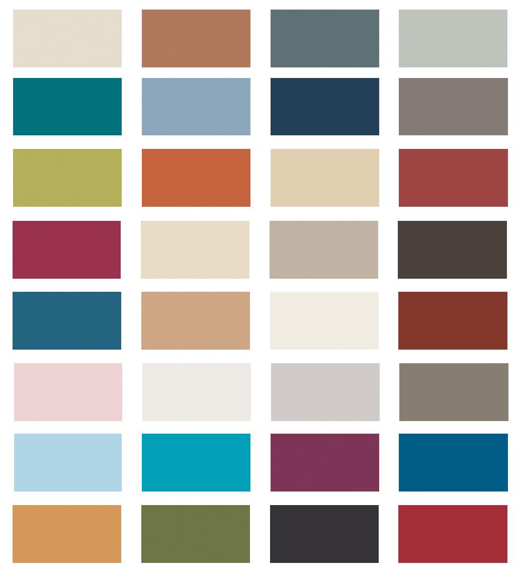 2018 Fall color palette