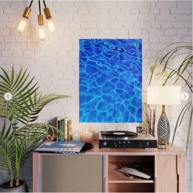 Blue Water abstract was the most purchased design in 2018