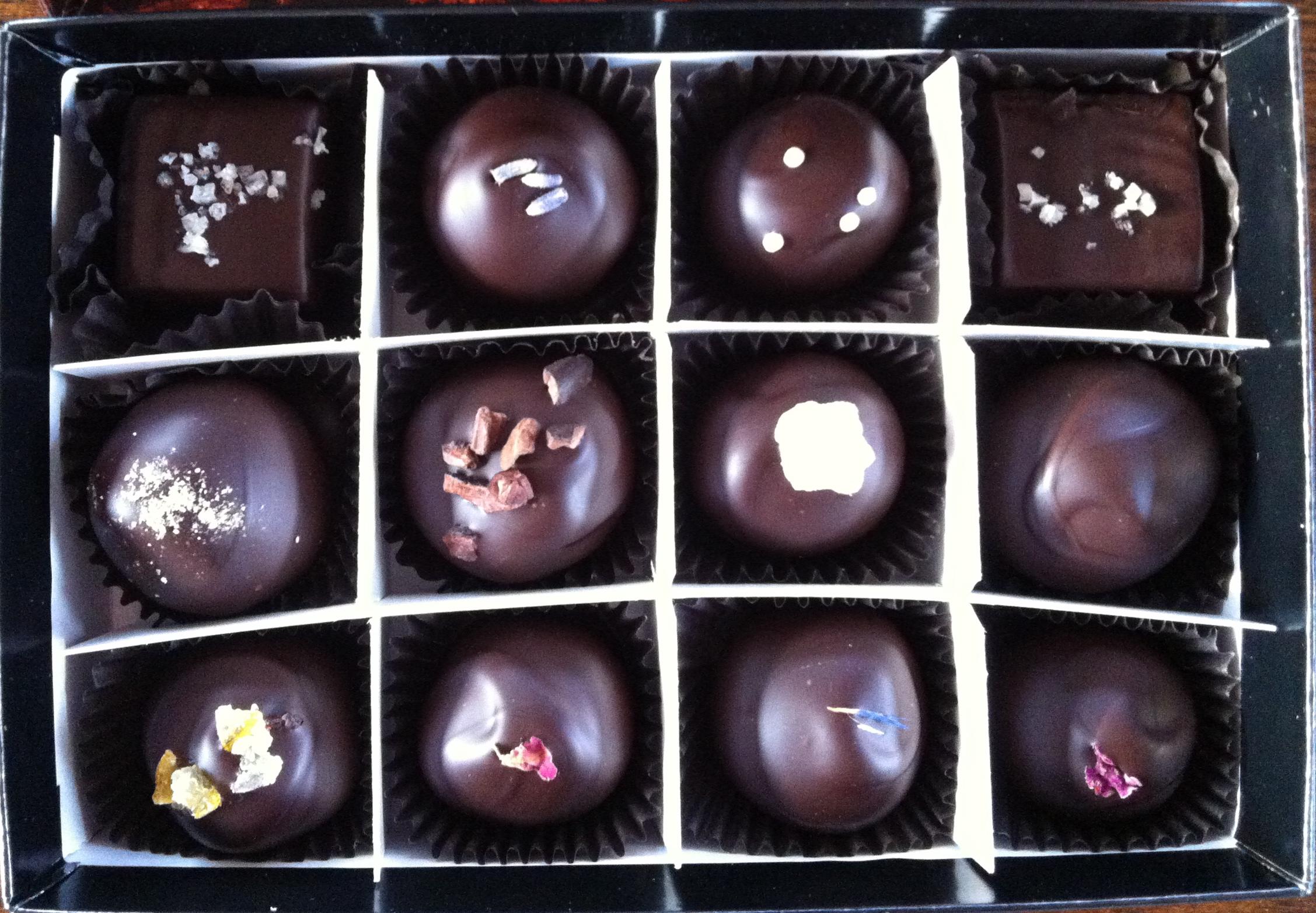 Box of Gail Ambrosius Chocolates