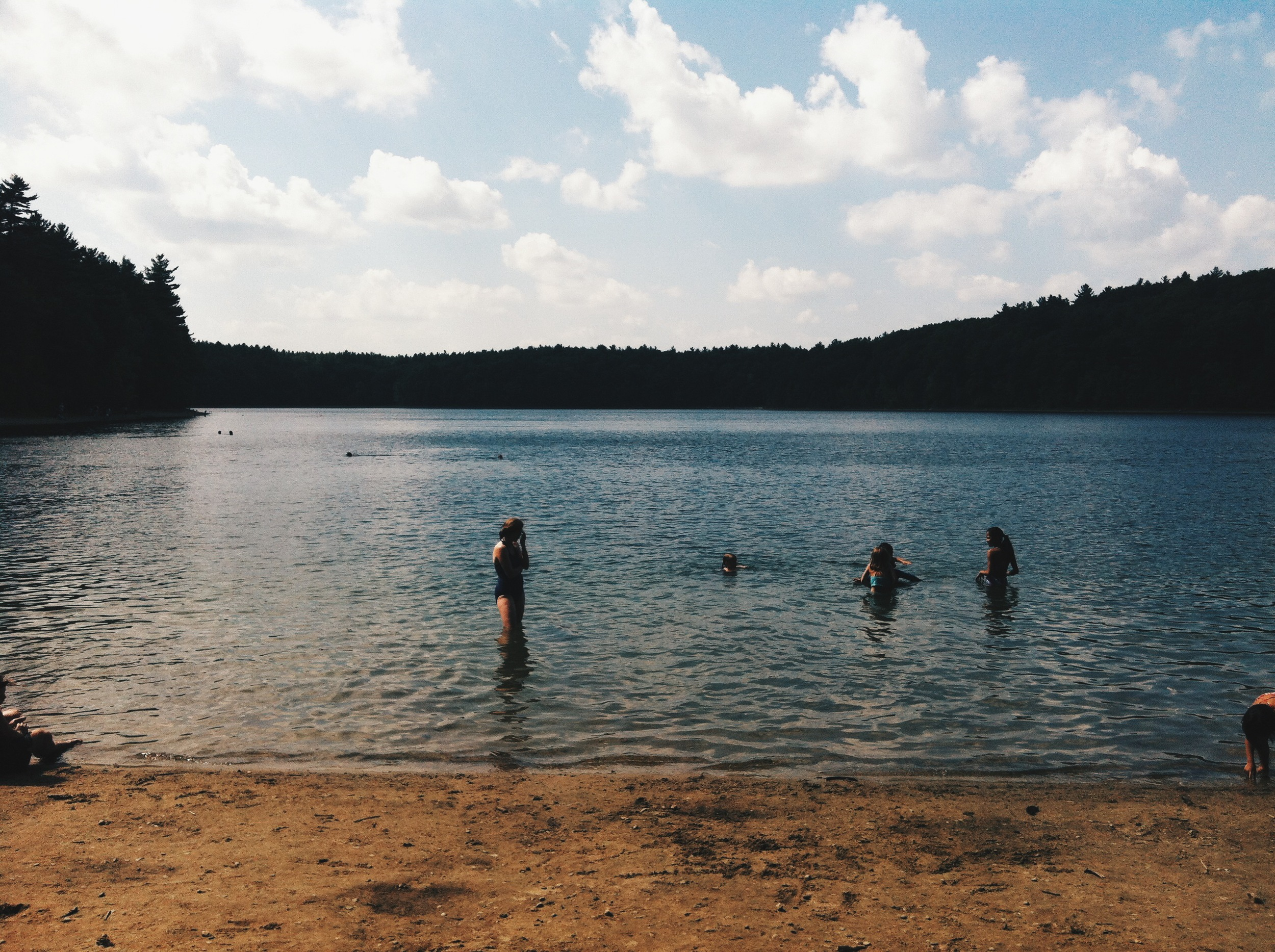 Walden's Pond in Concord, MA, was delightful, esp on a hot summer day