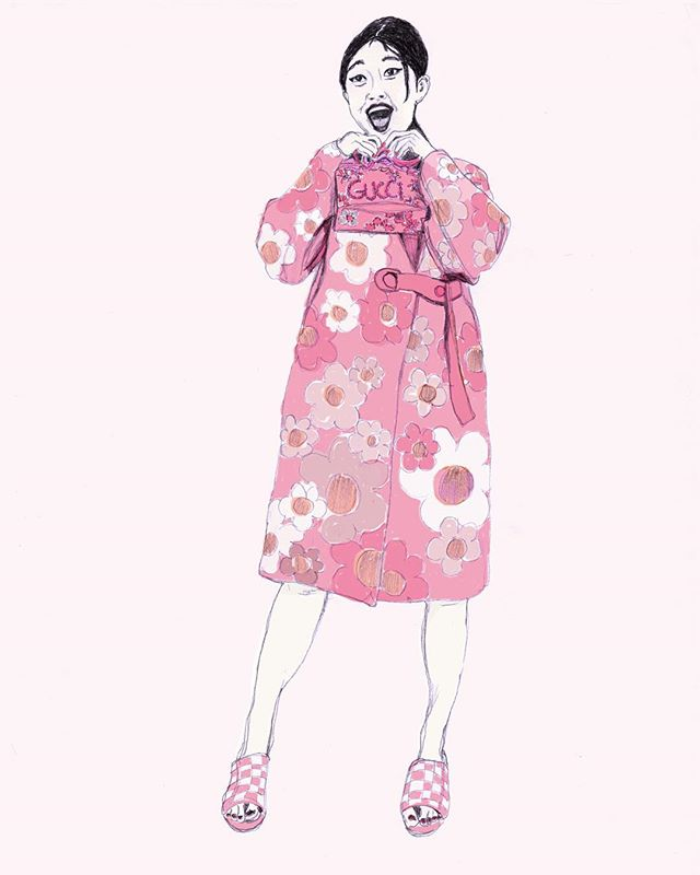 pink is my signature color... #pinkfashion #pinkismysignaturecolor #blushandbashful #thinkpink #fashionillustration #illustration #gucci #guccihandbag #fashionmagazine