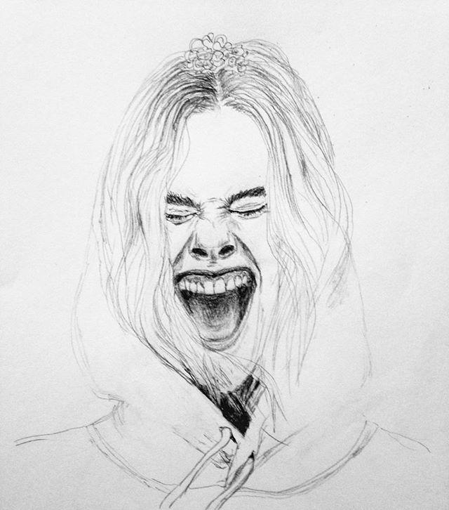 Friday feels- . . . . . #fashionillustration #wip #Fashion#drawing#pencil #pencildrawing#portrait #voguemagazine #Tiffany&Co #instaart#editorial#jewelry #Tiffanypaperflowers #ellefanning