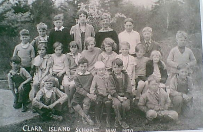 Clark Island School circa 1933