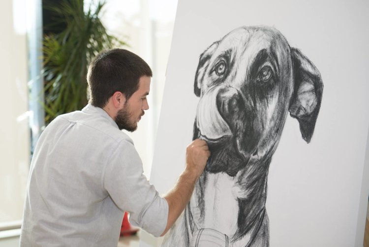 Support the Dogs! - Marcus' work will be a part of a silent auction! Don't Miss Out!