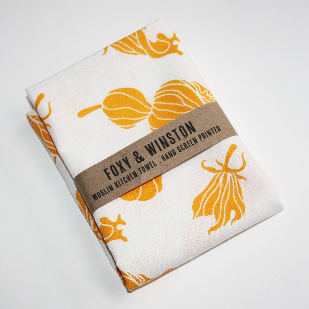 Muslin Squash Blossom Towel