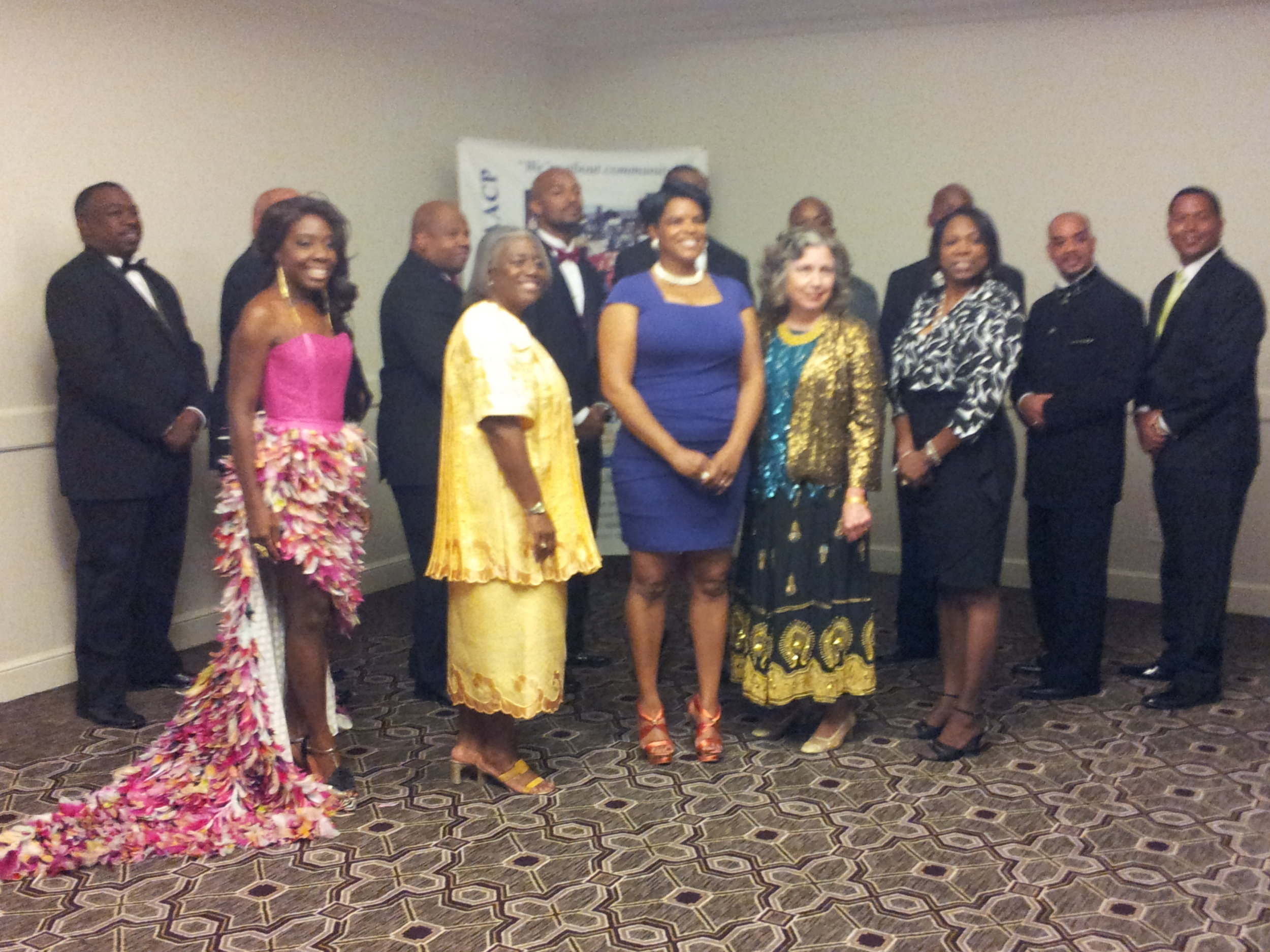 Upon my arrival to the event I was photographed along with my fellow nominees.