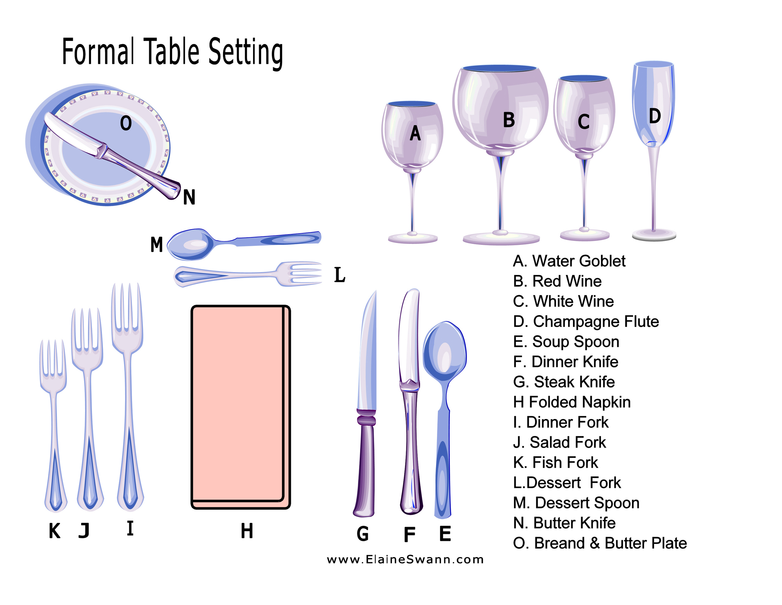 Formal Table Setting Example for Download — Elaine Swann: Etiquette
