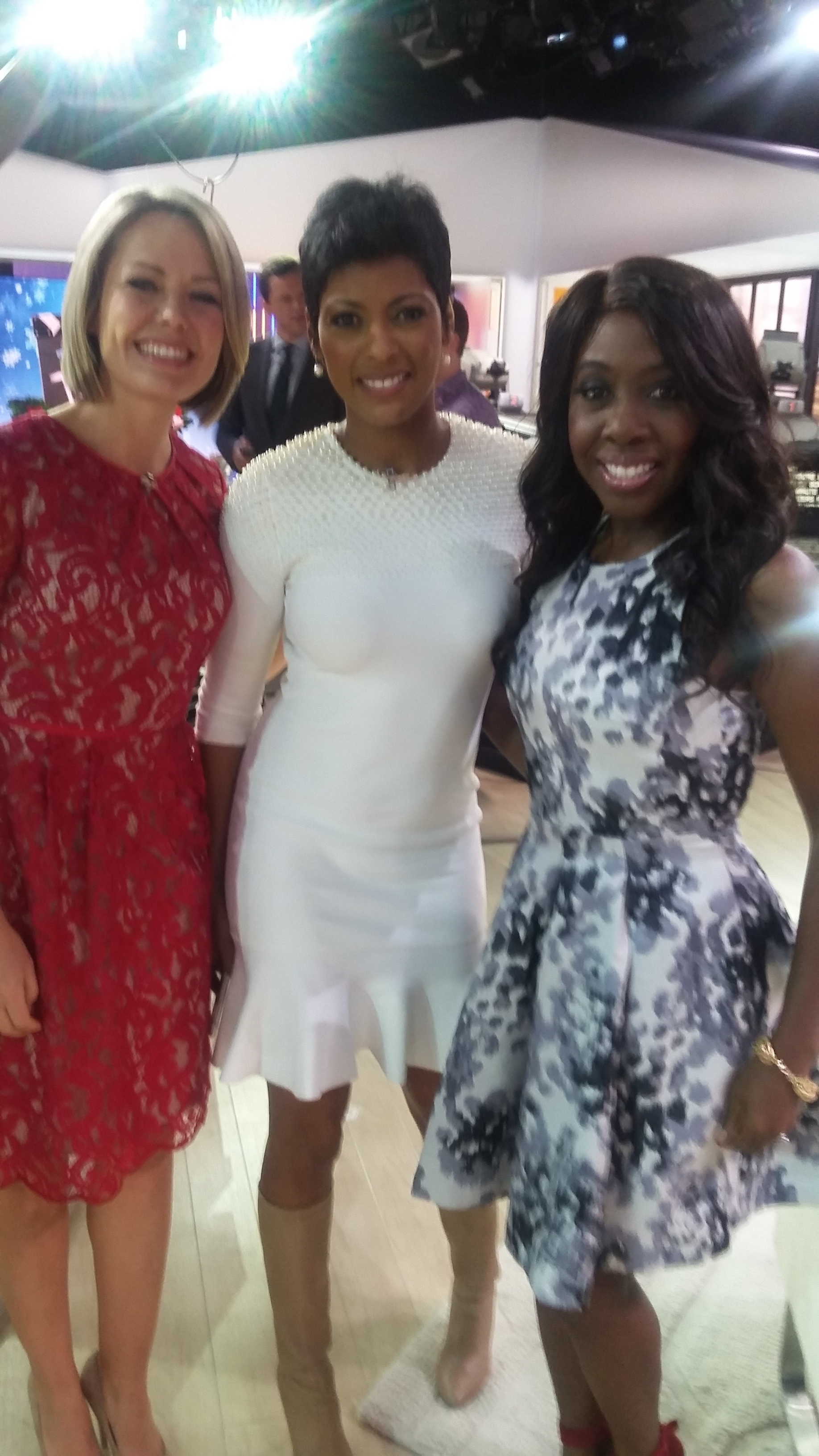 After our segment. This is me with TODAY Show anchors  Dylan Dreyer (l) and Tamron Hall (c).
