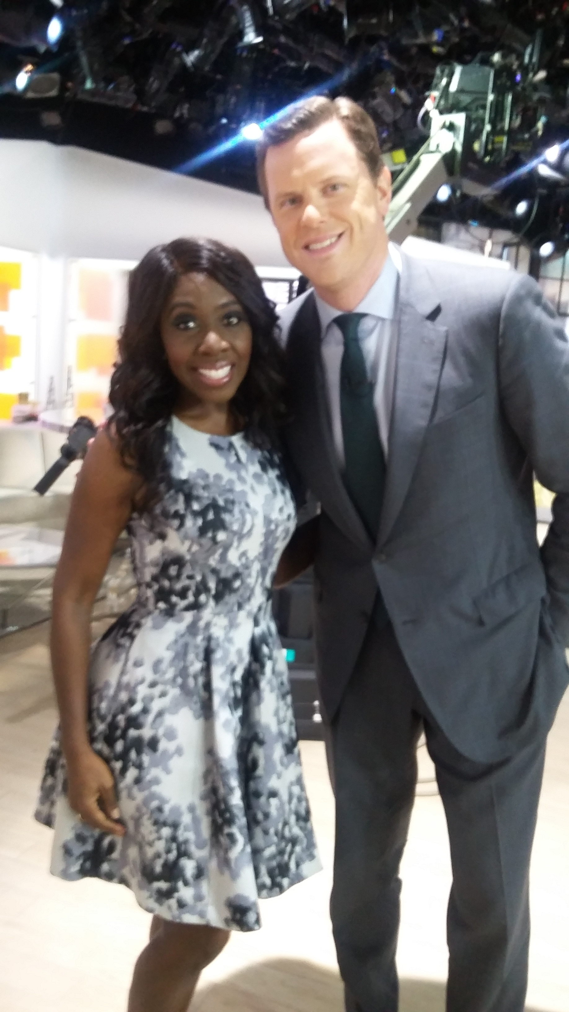 Me with TODAY Show anchor Willie Geist.
