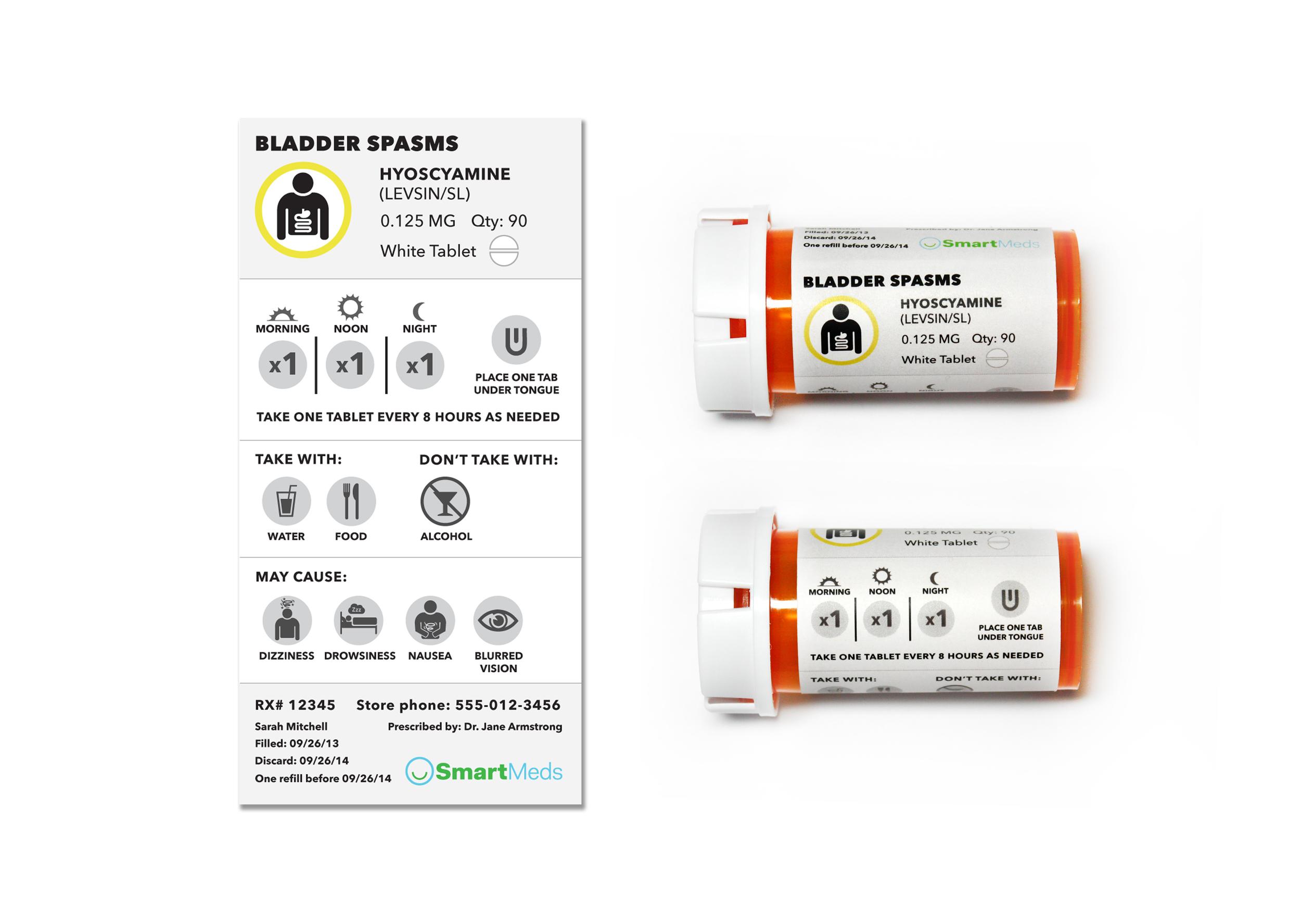 Redesigned pill bottle label