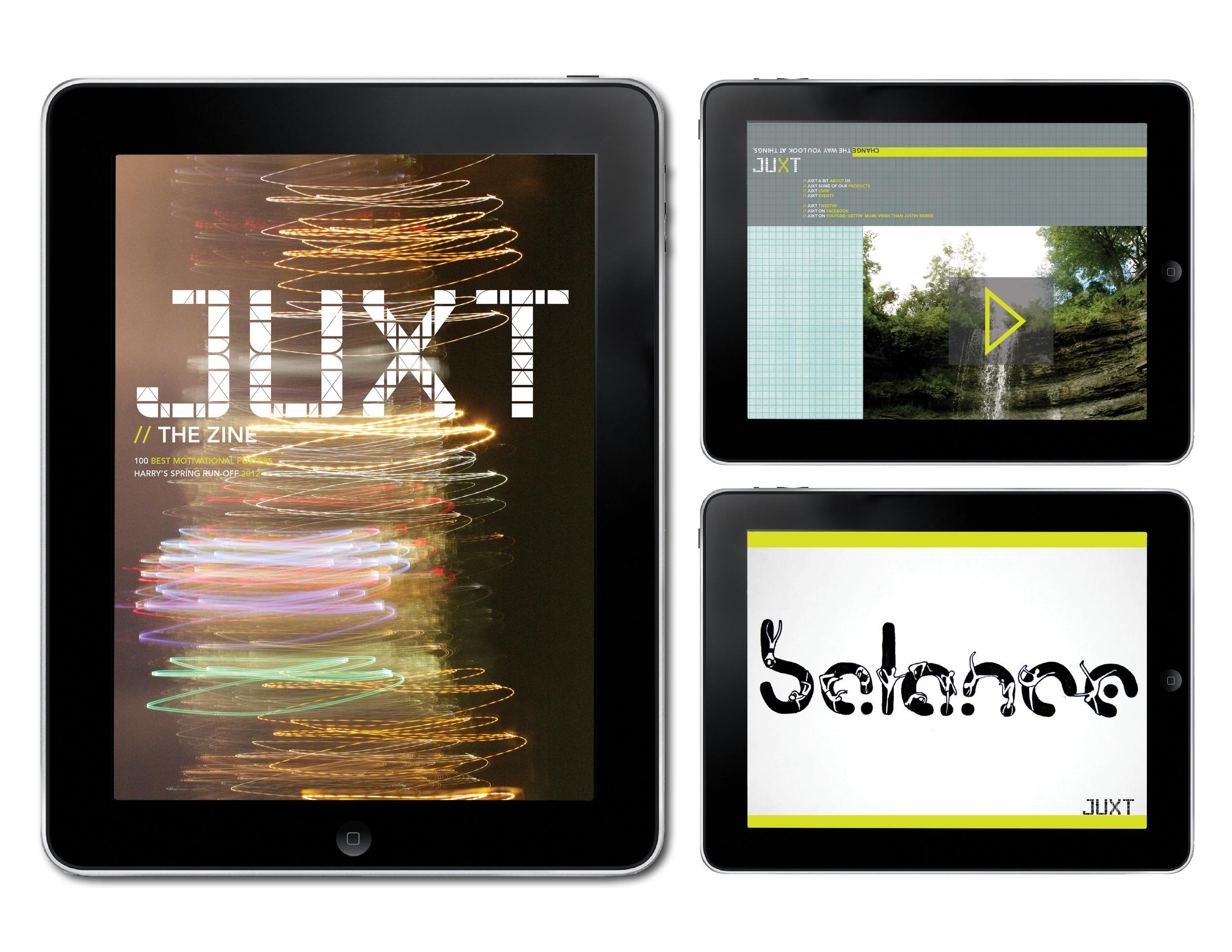 JUXT- iPad Zine