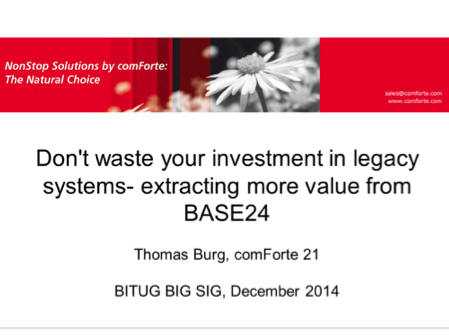 Extractingvalue from BASE24 - comForte - Thomas Burg