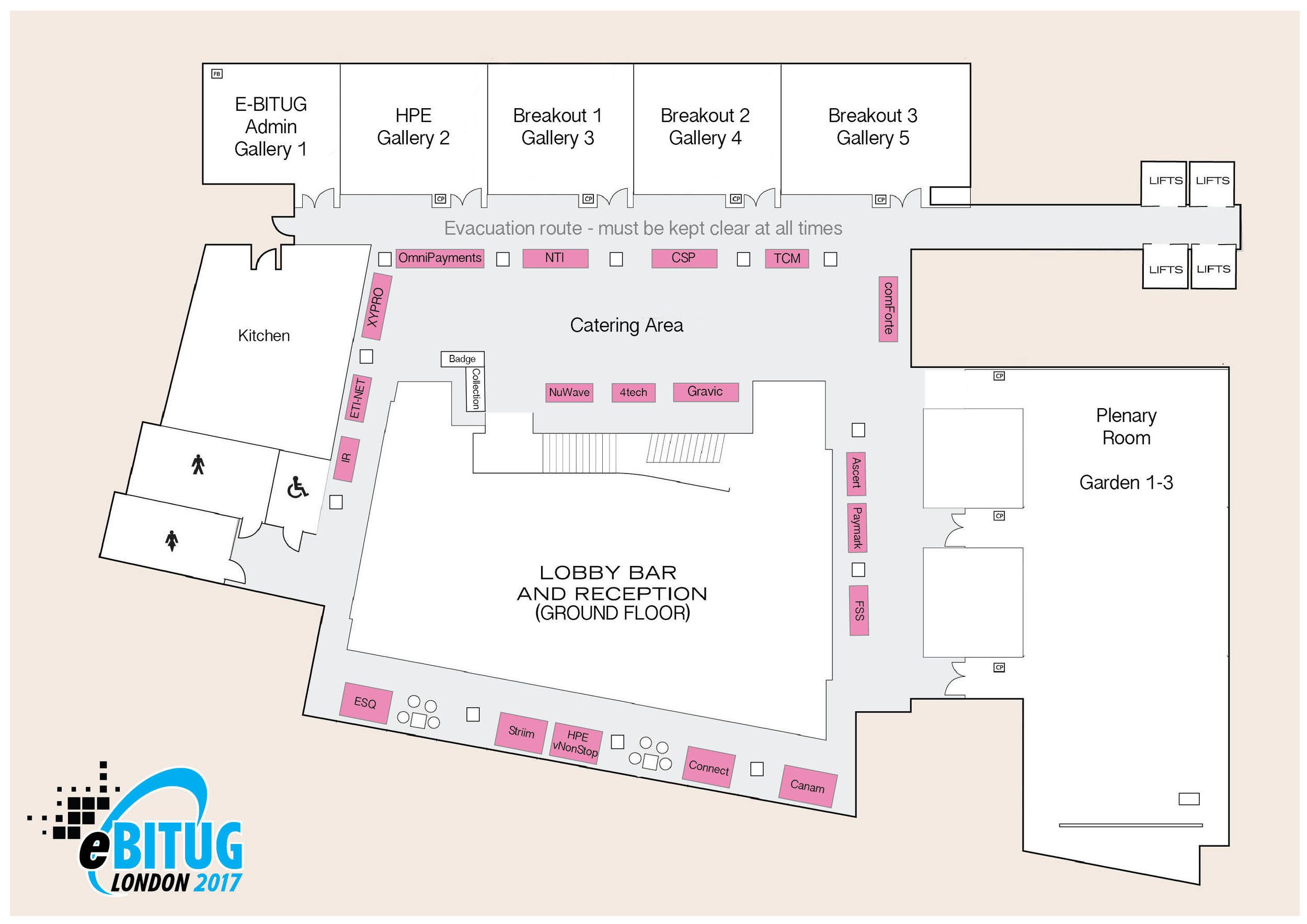 E-BITUG 2017 booth plan