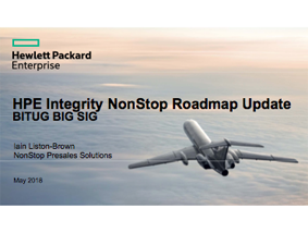 NonStop Roadmap - Iain Liston-Brown - HPE