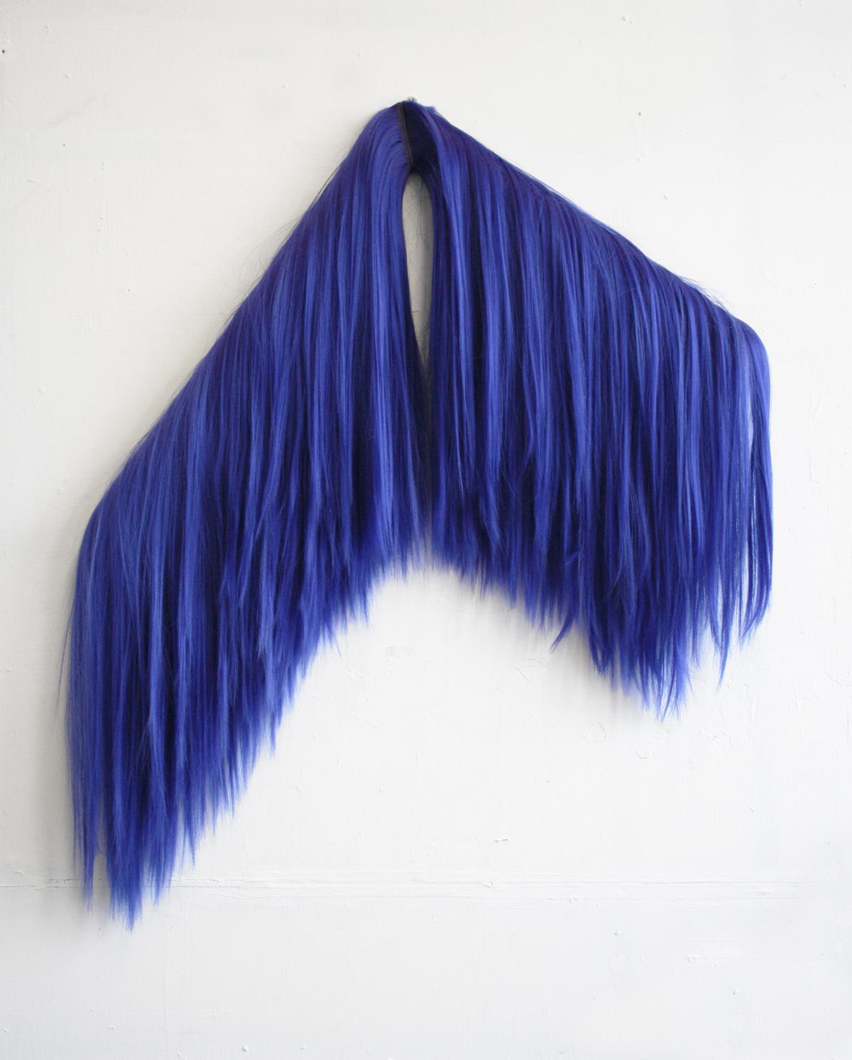 """""""Limbs For Din-dins"""" Futura Yaki Blue Hair on wood 70 x 80cm 2016"""