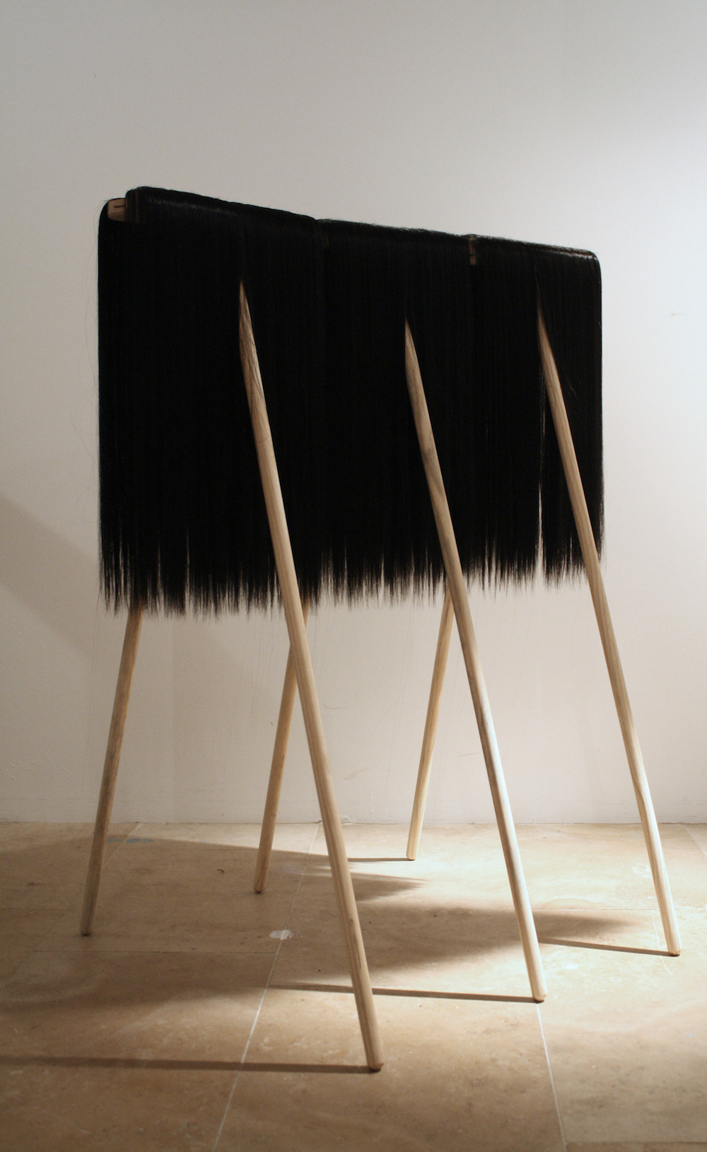 Long-bodied Cellar Brooms 90 x 115 x 72 cm Synthetic hair and wooden brooms 2015