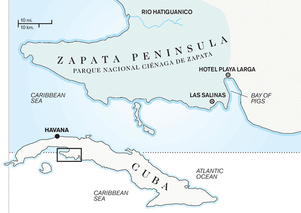Zapata Peninsula (Cuba) Map