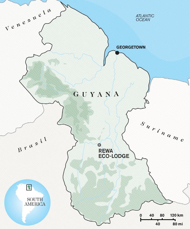 Map design for Guyana feature (enlarged)