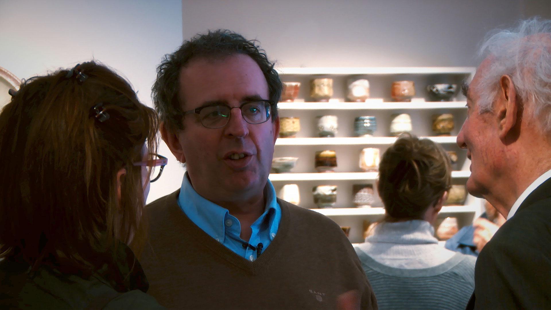 Richard Coles at Phil Rogers Ceramics Exhibition, Goldmark Gallery 2017