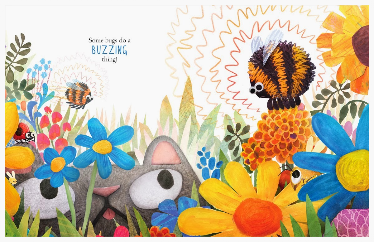 Double page spread from Angela DiTerlizzi and Brendan Wenzel's  Some Bugs .