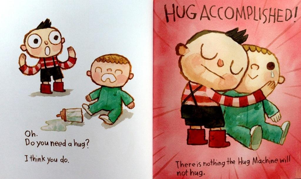 hug machine spread