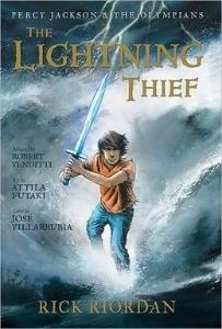 lightning thief rick riordan graphic novel percy jackson read alikes kids book long enough