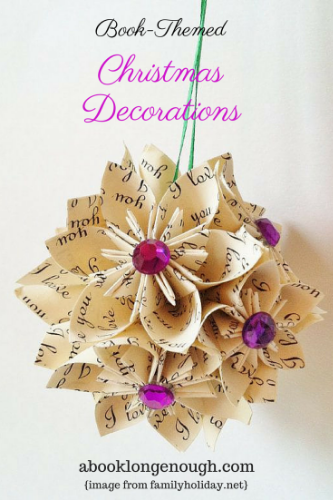 christmas decorations upcycled book long enough