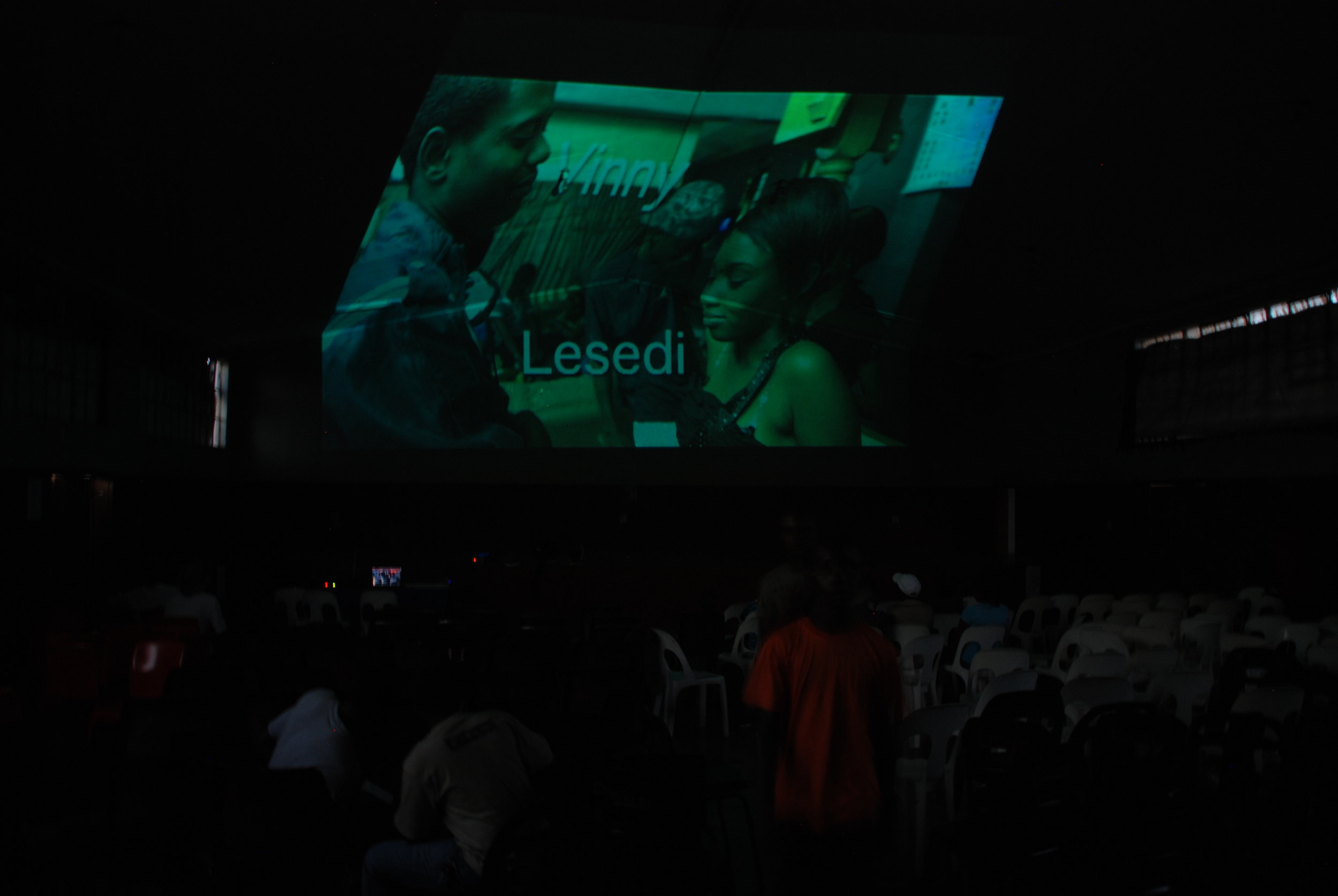 Screening of Lerado, the first feature film to be made in the town of Musina.