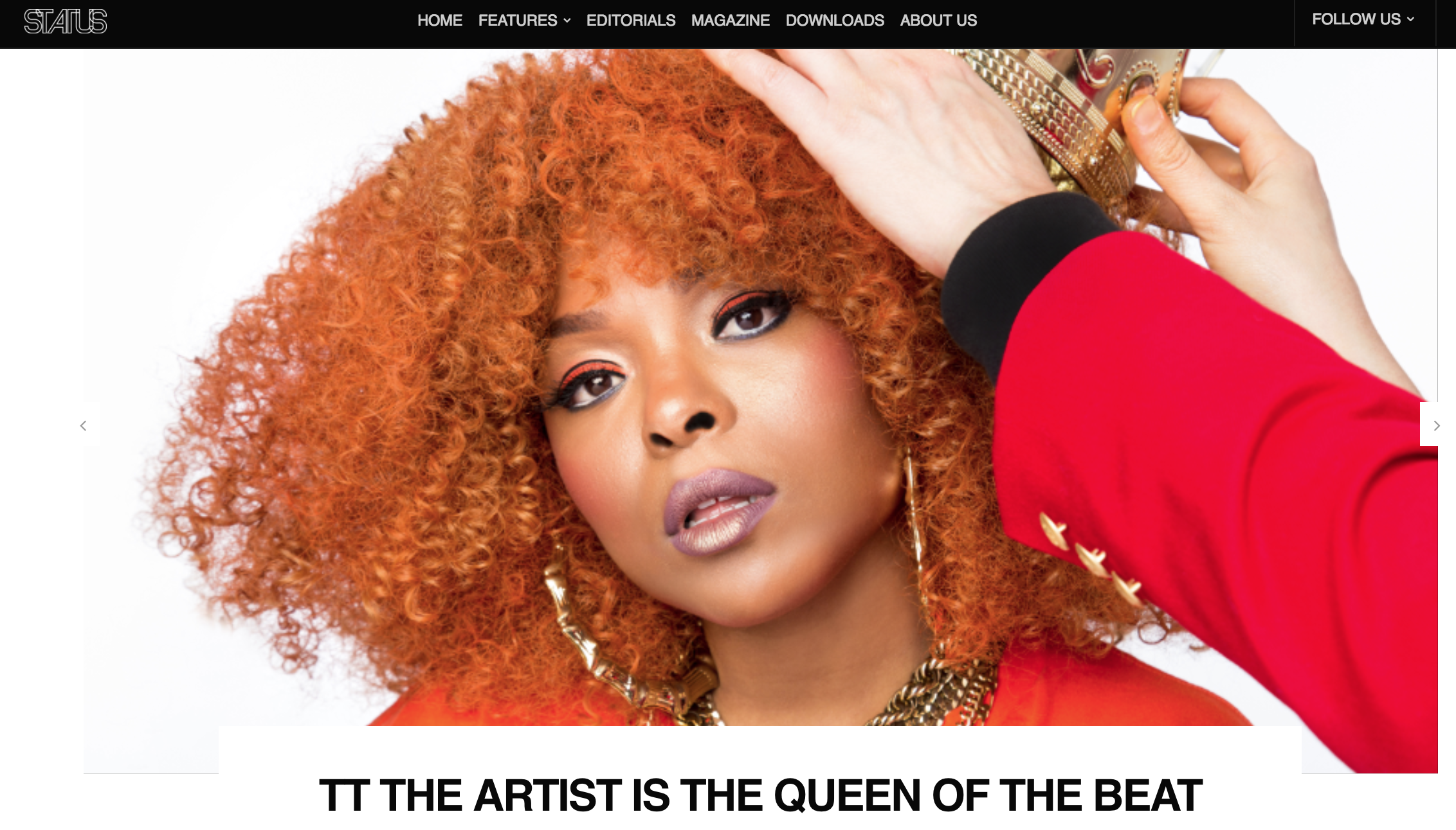 """Popping colors that groove with every drop of her verses and moves, TT THE ARTIST embodies her title as """"Queen of The Beat.""""  Baltimore-based singer, rapper, and producer Tedra Wilson, known as TT The Artist, is busting the streets with every shade in the color spectrum that graced her hair. Producing a collage of Baltimore club, Miami bass, electronic dance music, and party-rap, her music is an artistic bubble bursting all things hip and cool. Like a street artist that tags their signature on walls, her music leaves a mark in your brain on first listen.  Raised in a strict environment as a kid, she created TT the Artist as her image of a strong, independent woman capable of situations that she was vulnerable to. Growing up in Fort Lauderdale, Florida, she was culturally inspired by the music that was present at her time, varying from Miami Bass, Southern hip hop, and '90s dance music. Her moniker is more than just a title but a devotion. She exhibits her high regard for women, most especially in the hip-hop scene. With songs like """"Fly Girl"""" paving the way for new female artists like Colada to enter the music industry, TT the Artist is a party that won't stop till she drops.  CLICK LINK TO READ FULL INTERVIEW  http://statusmagonline.com/features/tt-the-artist-interview-may-2018/"""