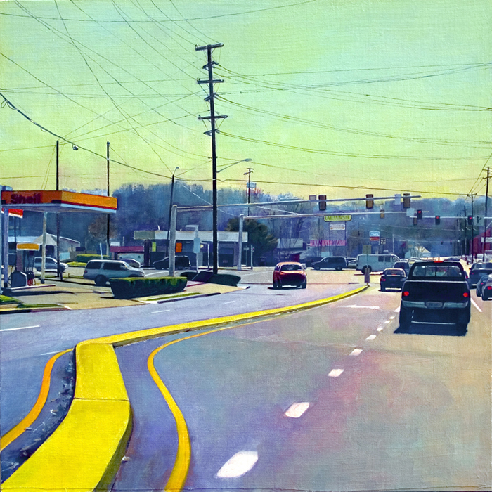 """Main Street"", 24"" x 24"", oil on linen panel"